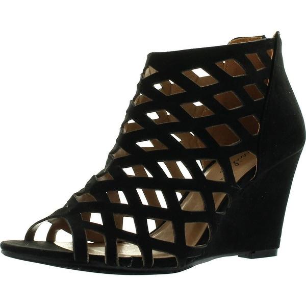 Bonnibel Trina-2 Womens Cut Out Back Zip Wedge Sandals