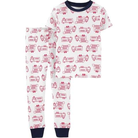 Carter's Baby Boys' 2-Piece Firetruck Snug Fit Cotton PJs, 12 Months