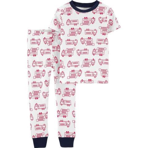 Carter's Baby Boys' 2-Piece Firetruck Snug Fit Cotton PJs, 18 Months