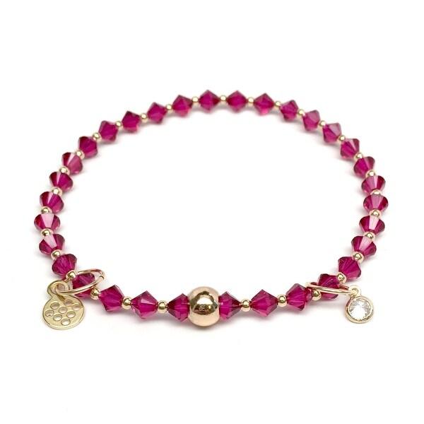 "Fuchsia Crystal Emily 7"" Bracelet"