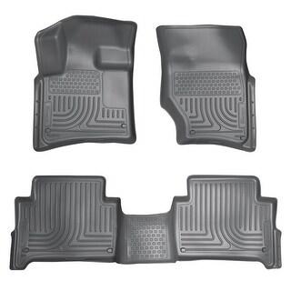 Husky Weatherbeater 2007-2015 Audi Q7 Bench Seats Grey Front & Rear Floor Mats/Liners