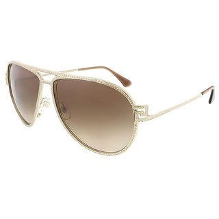 Versace VE2171B 125213/62 Pale Gold Aviator sunglasses