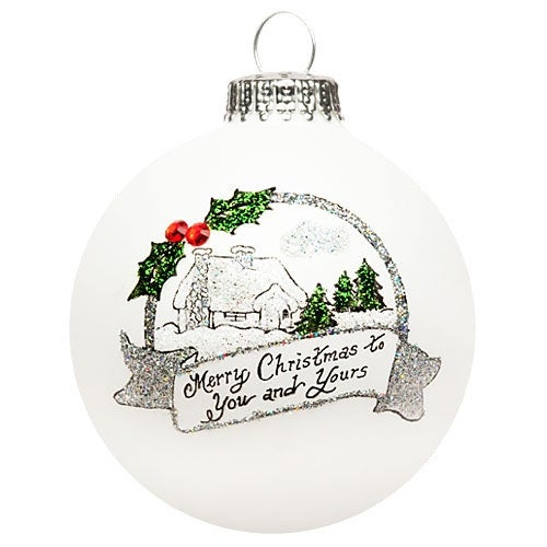 Christmas Cottage Ornament