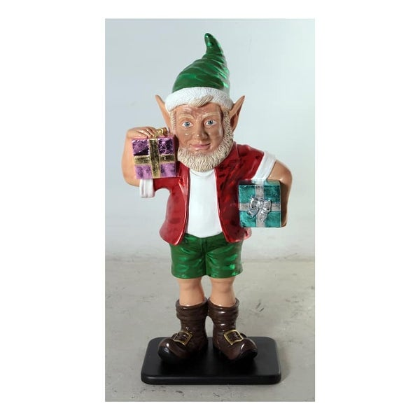 Christmas at Winterland WL-ELF-2G-03 36 Inch Elf Figurine with 2 Gift Packages