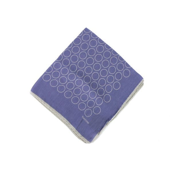 Tom Ford Mens Purple Outlined Circles Pocket Square