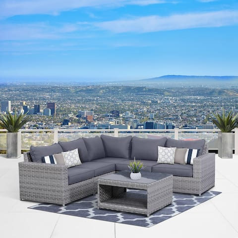 Kensington 6 Piece Sectional Seating Group with Cushions