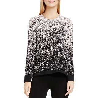 Vince Camuto Womens Blouse Printed Back Zipper