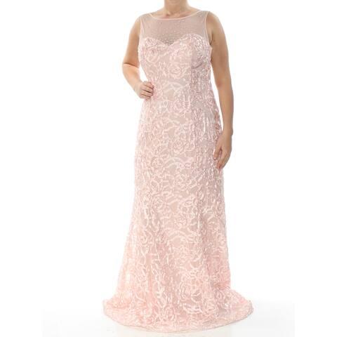 SLNY Womens Pink Sleeveless Full Length Mermaid Formal Dress Size 6