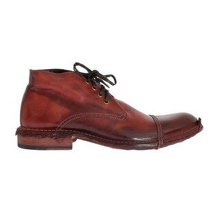Dolce & Gabbana Bordeaux Leather Ankle Chukka Boots - eu44-us11