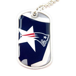 New England Patriots Dynamic Dog Tag Necklace Charm Chain NFL