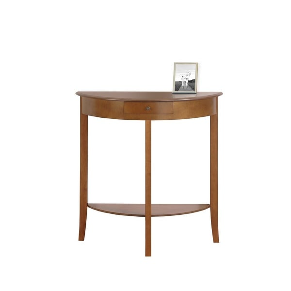 Monarch Specialties I 3129 30 Inch Wide Wood Hall Console Table Oak