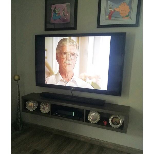 Shop Thin 60-inch Wall Mount TV Console - Free Shipping