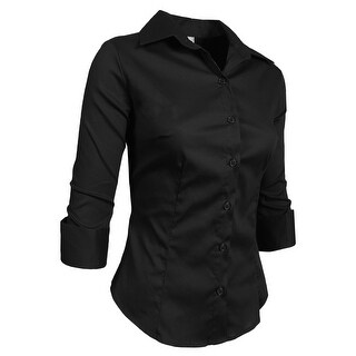 NE PEOPLE Roll Up 3/4 Sleeve Button Down Shirt with Stretch (More options available)