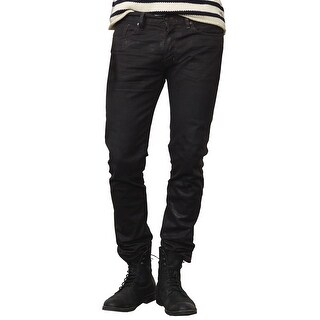 Denim and Supply Ralph Lauren Dropped Skinny Fit Coated Jeans Black 38 x 30