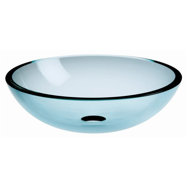 """WS Bath Collections Acquaio 53696 16-7/10"""" Round Vessel Bathroom Sink from the Linea Collection"""
