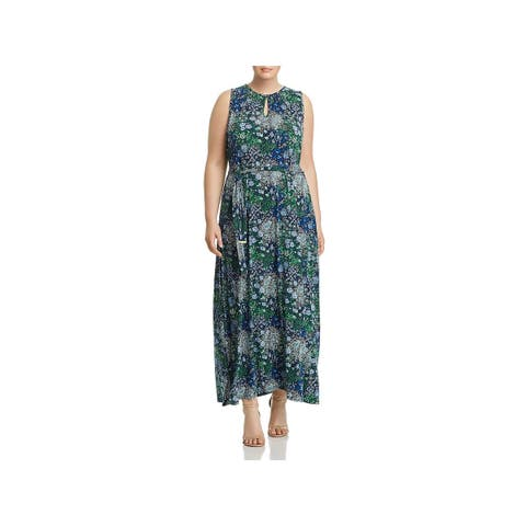 MICHAEL Michael Kors Womens Plus Maxi Dress Paisley Halter