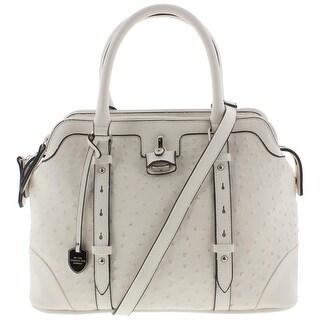 London Fog Womens Tote Handbag Faux Leather Convertible - Large