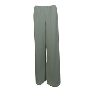 Alex Evenings Women's Wide Leg Crepe Pants