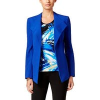 Nine West Womens Open-Front Blazer Crepe Collarless