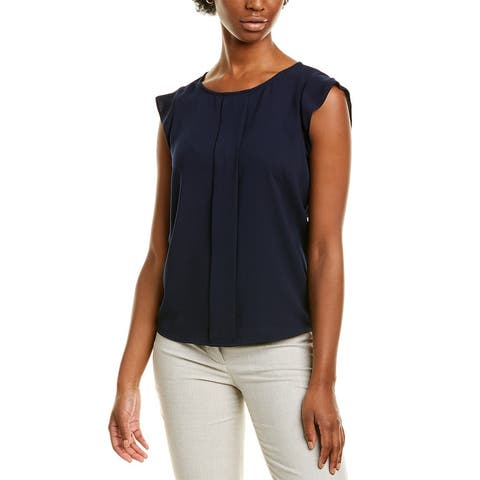 Tahari Asl Pleat Front Blouse