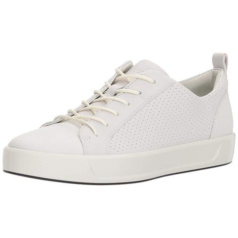 ECCO Women's Soft 8 Perforated Tie Sneaker - 9
