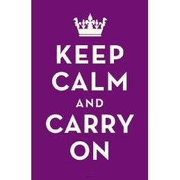 ''Keep Calm and Carry On (Purple)'' by Anon Motivational Art Print (17 x 11 in.)