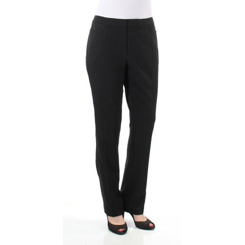 TOMMY HILFIGER Womens Black Tuxedo Stripe Wear to Work Pants Size 6