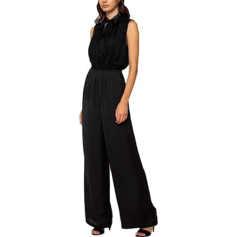 Juicy Couture Black Label Womens Annabelle Jumpsuit Satin Lace