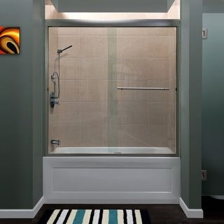 """Miseno MSDC6060 Azul 60"""" High x 60"""" Wide Frameless Shower Door with Clear Glass"""