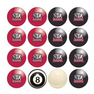 NCAA Alabama Crimson Tide Billiard Balls Complete Set of 16 Balls