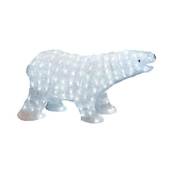"""26"""" Lighted Commercial Grade Acrylic Polar Bear Christmas Display Decoration"""