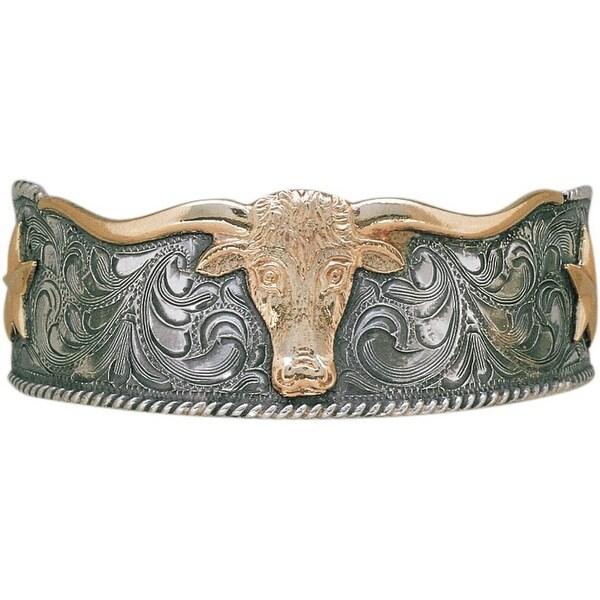 """Vogt Western Women Bracelet Silhouette Longhorn 2 1/2"""" Silver 014-050 - silver gold"""