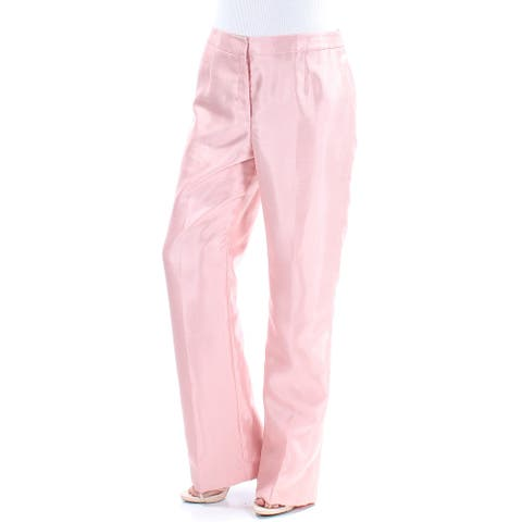 LE SUIT Womens Pink Straight leg Wear to Work Pants Size 8