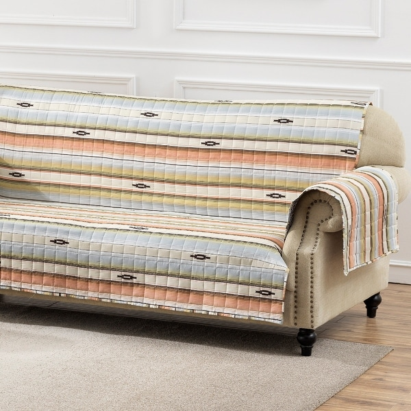 Barefoot Bungalow Painted Desert Reversible Sofa Protector - 127 x 77 inches. Opens flyout.