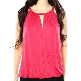 Max Studio NEW Red Women's Size XL Braid Trimmed Halter Tank Cami