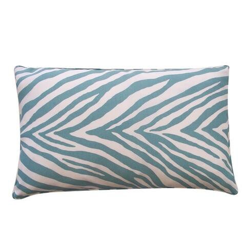 Jiti Blue Animal Modern & Contemporary Sunbrella Outdoor Pillows - 12 x 20