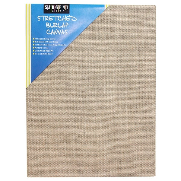 Stretched Canvas 12 X 16 Burlap