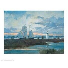 ''Out at Dawn'' by Ray Ellis Coastal Art Print (25.5 x 31.75 in.)