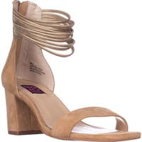 Mojo Moxy Cookie Ankle-Strap Dress Sandals, Natural - 8 us