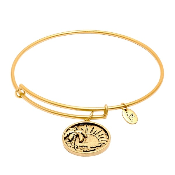 Chrysalis Expandable Sun Bangle in 14K Gold-Plated Brass