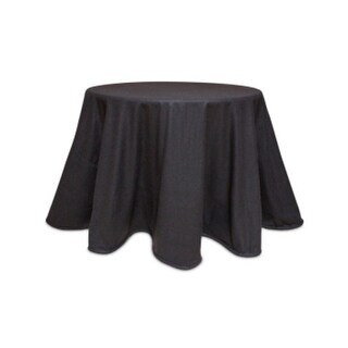 """Pack of 2 Lush Brown Felt Polyester Tablecloths 96"""""""