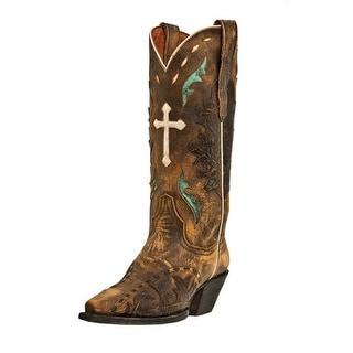Dan Post Western Boots Womens Fashion Anthem Cross Vintage Tan DP3621