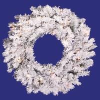 "20"" Flocked Alaskan Wreath 35CL"