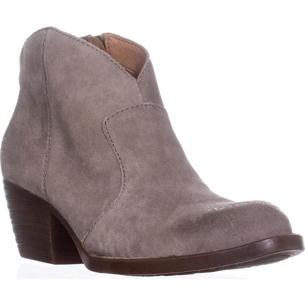 Born Michel Short Western Ankle Boots, Grey