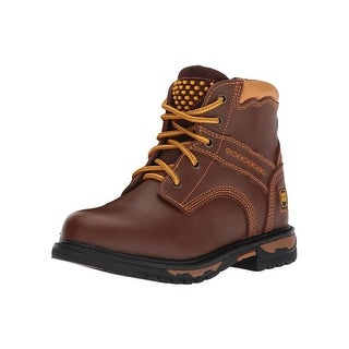 Dan Post Western Boots Boys Lace Classic Work Round Brown