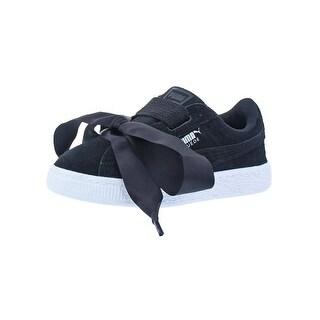 Puma Girls Suede Heart Fashion Sneakers Padded Insole Satin Bow - 11 medium (b,m) little kid