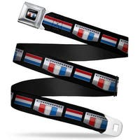 Camaro Six Badge Full Color Black Silver Red White Blue Camaro Six Badge Seatbelt Belt