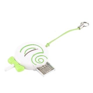 Unique Bargains USB 2.0 Plastic Lollipop Design Mini SD TF Memory Card Reader White Green