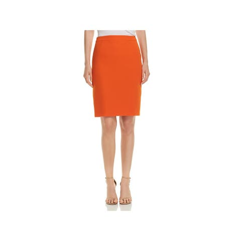 Hugo Boss Womens Vimena Pencil Skirt Solid Above Knee