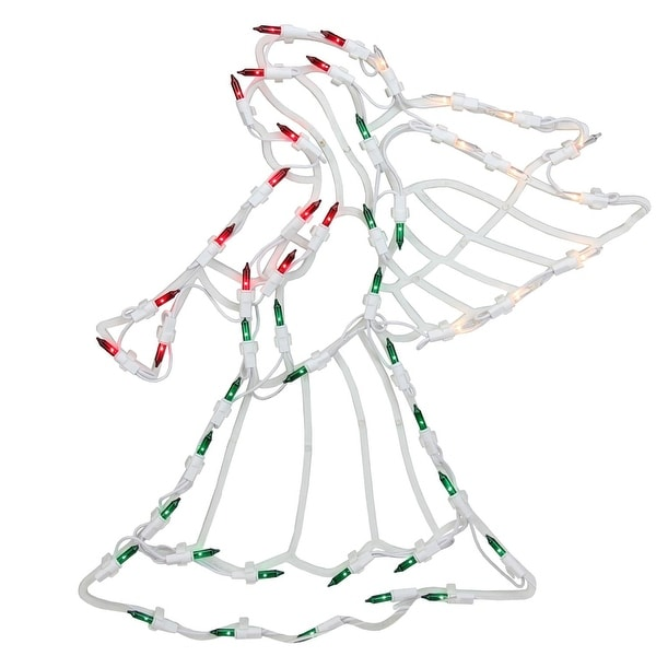 """18"""" Lighted Angel Christmas Window Silhouette Decoration (Pack of 4)"""